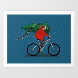 Bike Life: Christmas Art Print