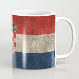 Old and Worn Distressed Vintage Flag of Croatia Coffee Mug