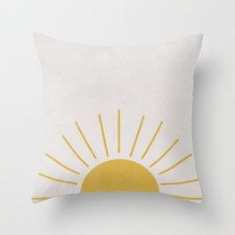 Mid Century Sun Throw Pillow