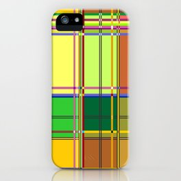 Caribbean Colorful Fabric Madras Tartan iPhone Case