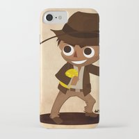 indiana jones iPhone & iPod Cases featuring Indiana Jones by Delucienne Maekerr