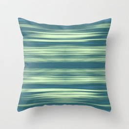 Abstraction Serenity in Afternoon at Sea Throw Pillow