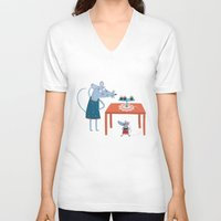 toddler V-neck T-shirts featuring Missing cupcake by Villie Karabatzia