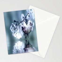 Frühlingsherz blue Stationery Cards