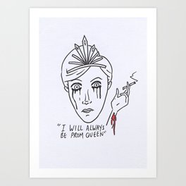 The prom queen Art Print