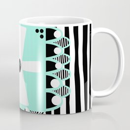 Black and White Squares and Stripes II Coffee Mug