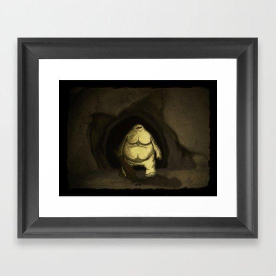 Cave Troll Framed Art Print