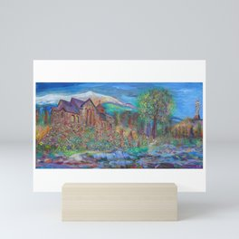 CHAPEL ON THE ROCK: THE SAINT CATHERINE OF SIENA CHAPEL IN ALLENSPARK COLORADO Mini Art Print