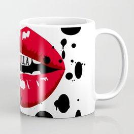 Cruella Villain Spots Red Lips Coffee Mug