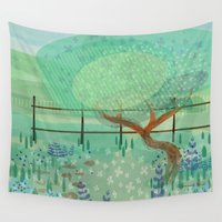 country Wall Tapestries featuring Country Lane by Alannah Brid