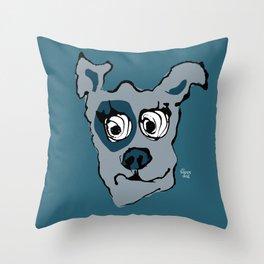 Bandit - petrol Throw Pillow
