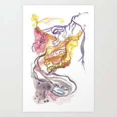 Iceland Abstracted: Krafla Art Print