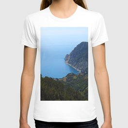 Coastal View from Hike Along Cinque Terre in Italy T-shirt