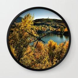 Fall Lake View Wall Clock