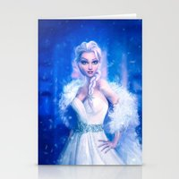 frozen elsa Stationery Cards featuring Elsa by Joe Roberts