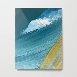 Paradise: a vibrant, minimal, abstract mixed media piece Metal Print