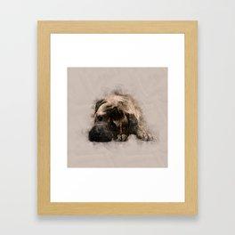 Bullmastiff Puppy Sketch Framed Art Print