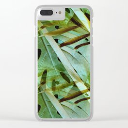 Monstera & Palm Clear iPhone Case