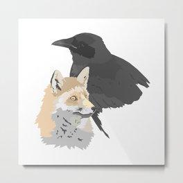 Le corbeau et le renard Metal Print