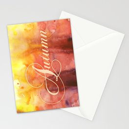 Watercolor Autumn Stationery Cards