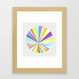 pastel sun Framed Art Print