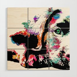 riley the lab pup Wood Wall Art