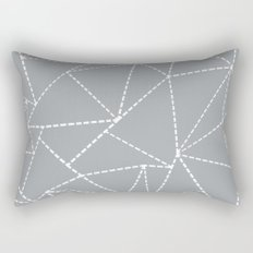 Abstract Dotted Lines Grey Rectangular Pillow