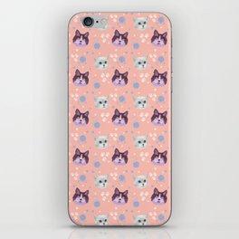 cats, kittens, pattern iPhone Skin