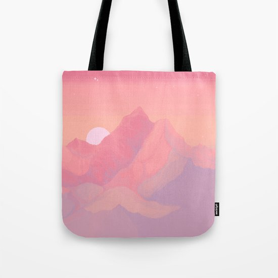 Peach Haze Tote Bag