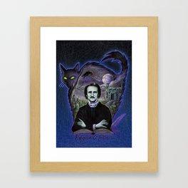 Edgar Allan Poe Gothic Framed Art Print