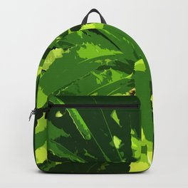 Green Leafes Abstract Backpack