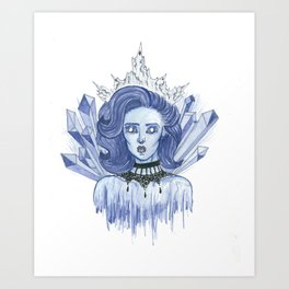 Queen of ice Art Print