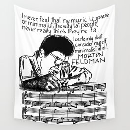 Morton Feldman with Quote Wall Tapestry