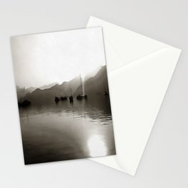 Gulets In Greyscale Stationery Cards