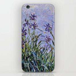 Claude Monet  -  Iris Mauves iPhone Skin