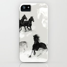 Horses. Running. Wilderness. iPhone Case