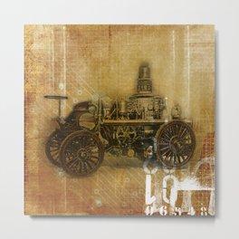 Vintage Fire Engine Metal Print