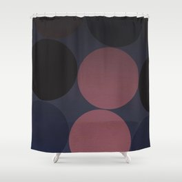 Dark Moon Geometry Shower Curtain
