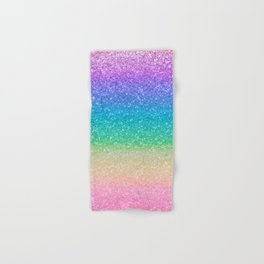 Rainbow Glitter Hand & Bath Towel