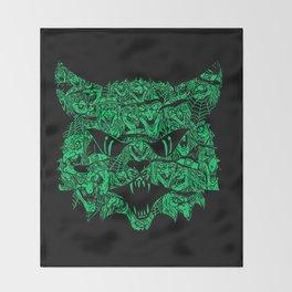 Kitty Witches Throw Blanket