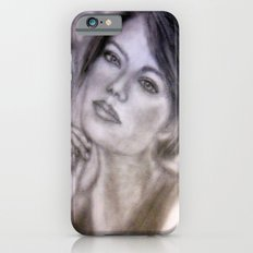 Pencil Portrait Drawing  - American Actress - Emma Stone Slim Case iPhone 6s