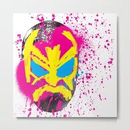Luchador Mask.  Metal Print