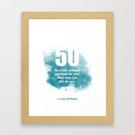 AgeIsJustANumber-50-SkyBurstA Framed Art Print