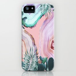 Mineral Agates & Garden #Glam collection iPhone Case