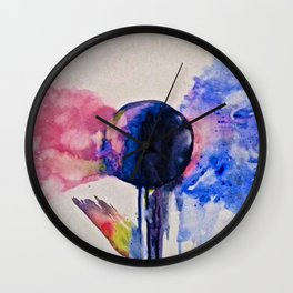good vs. evil Wall Clock