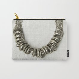 Mongolian silver necklace Carry-All Pouch