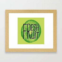 Kiwi fresh fruit illustration quotes Framed Art Print