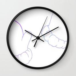 Purple And Cute Wall Clock