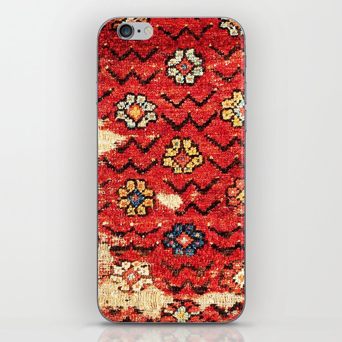 Konya Anatolian 18th Century Rug Fragment Print iPhone Skin