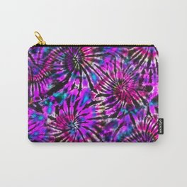 Purple Tie Dye Madness Carry-All Pouch